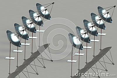 Zonne parabolische reflectors