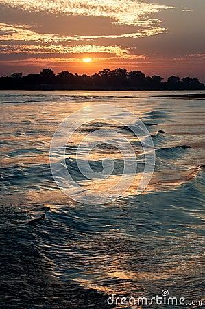 De rivier van Irrawaddy, Myanmar