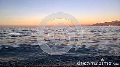 Zonsondergangtijd voor bezinning stock footage