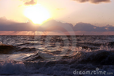 Zonsopgang bij de oceaan