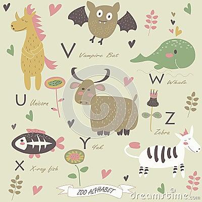 Free Zoo Alphabet Stock Image - 36903381