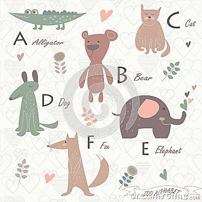Zoo alphabet Vector Illustration
