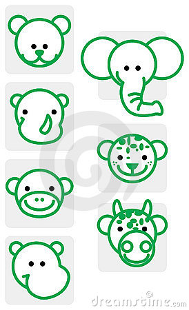 Zoo animal illustrations