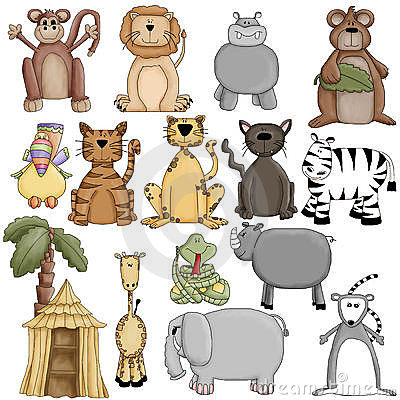 Zoo Animals Clipart Graphics