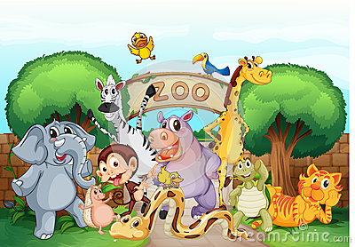 Zoo Entrance Stock Zoo Images Clip Art