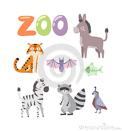 Free Zoo Animals Vector Set. Royalty Free Stock Images - 72747329