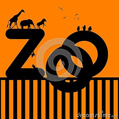 Zoo Illustration with Animals