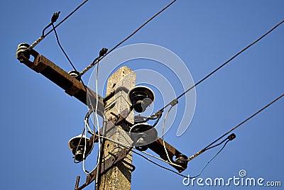 Zoom of electric pillar
