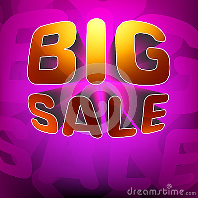 Zoom shine text Big Sale on purple. EPS 8