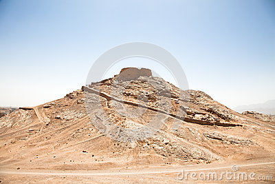 Zoroastrian Tower of Silence, Yazd, Iran.
