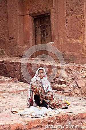 Zoroastrian women seling goods Editorial Image