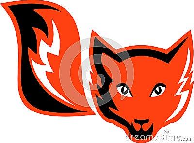 Zorro rojo con la cola