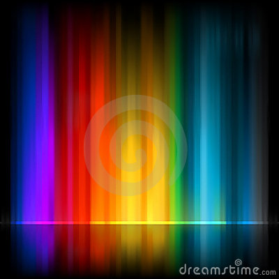 Zorza Borealis. Kolorowy abstrakt. EPS 8