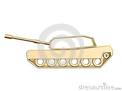Złota zbiornik krzywa