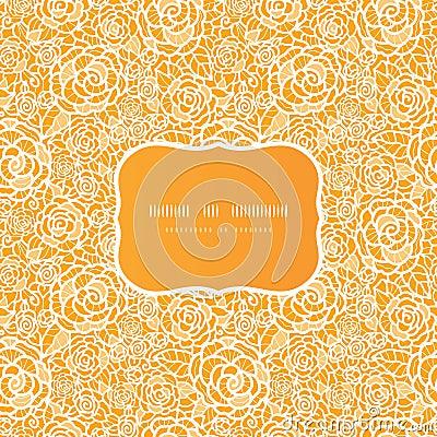 Złotej koronkowej róży ramy bezszwowy wzór