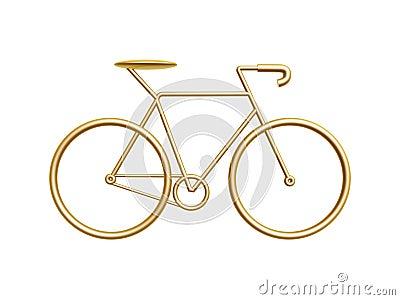 Złoty bicykl