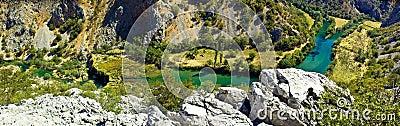 Zrmanja river canyon - Krupa mouth waterfall