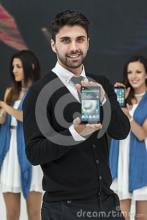 ZTE PRESENTATION, MOBILE WORLD CONGRESS 2014 Editorial Photography
