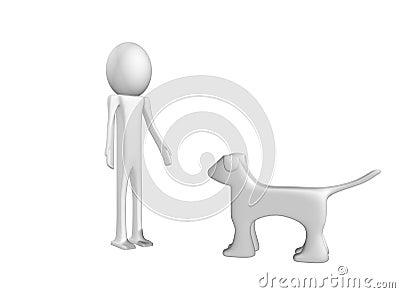 Zu mit Hund spielen