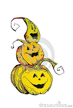 Zucche divertenti di Halloween