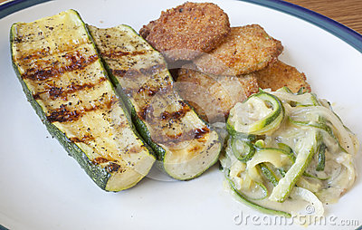 Zucchini Cooked Three Ways