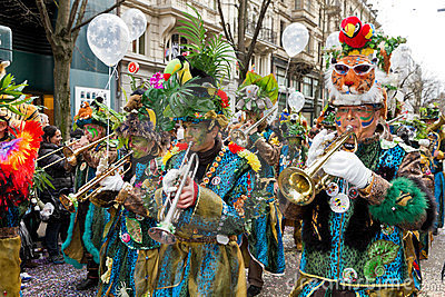 ZueriCarneval Fasnacht Zurich, Switzerland Editorial Stock Photo