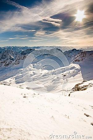 Zugspitze mountain scenic