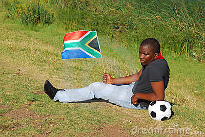 Zuidafrikaanse droevige voetbalventilator