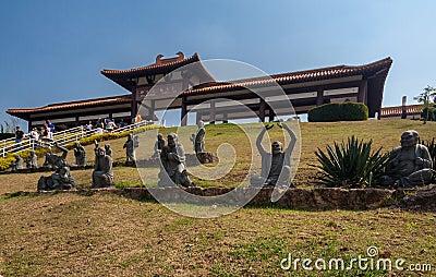 Zulai Budhist Temple Cotia Sao Paulo Editorial Image