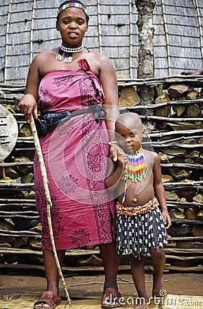 Zulu camp Editorial Stock Photo