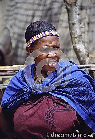 Zulu woman Editorial Stock Image