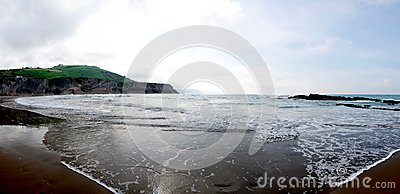 Zumaia Beach Panorama