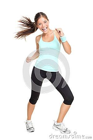 Fitness dance class woman dancing
