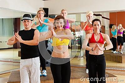 Zumba or Jazzdance - young people dancing