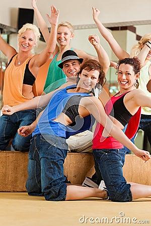 Free Zumba Or Jazzdance - Young People Dancing In Studio Stock Photography - 35771632