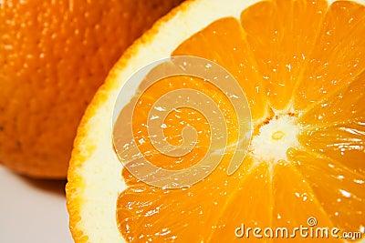 Zumo anaranjado y de naranja