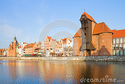 Zuraw and old embankment, Gdansk