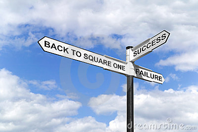 Zurück zu Quadrat eins Signpost