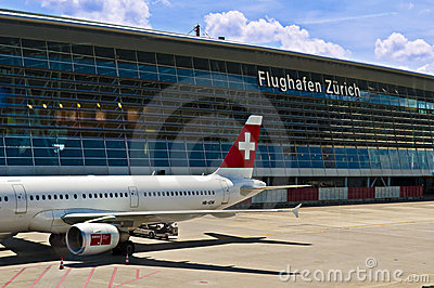 Zurich airport Editorial Stock Photo