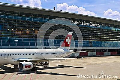 Zurich airport Editorial Stock Photo