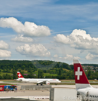 Zurich airport Editorial Photo
