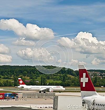 Zurich airport Editorial Photo