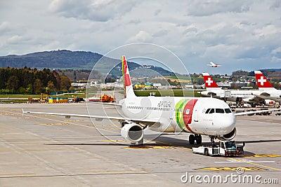 Zurich airport, Switzerland Editorial Photo