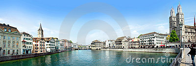 Zurich panorama Editorial Image