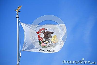 Zustand-Markierungsfahne von Illinois