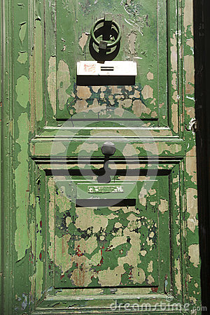 Grungy groene deur
