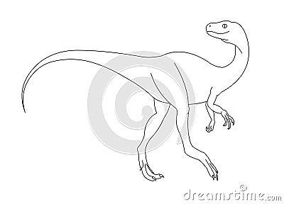 Zwart-witte dinosaurus