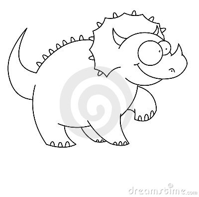 Zwart-witte Dinosaurus t -t-rex