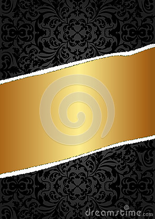 Zwarte en gouden achtergrond