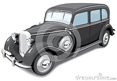 Zwarte retro auto